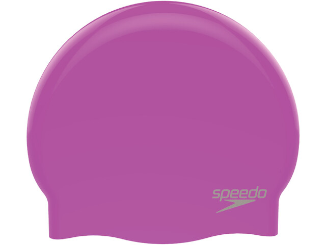 speedo Plain Moulded Gorro de silicona, purple/chrome